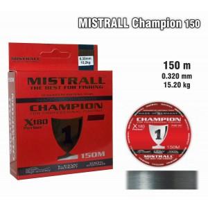 Леска MISTRALL Champion 032 (0.320мм. / 150м. тест: 15.20кг.)