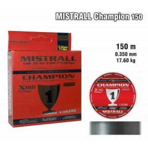 Леска MISTRALL Champion 035 (0.350мм. / 150м. тест: 17.60кг.)