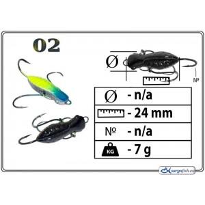 Мормышка СТРЕКОЗА (длина: 24.0мм., вес: 7.0г., с ушком, цвет 002, в уп. 1 шт.)