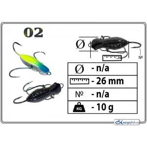 Мормышка СТРЕКОЗА (длина: 26.0мм., вес: 10.0г., с ушком, цвет 002, в уп. 1 шт.)