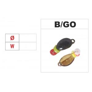 Мормышка КЛОПИК (диам.: 4.2мм., длина: 5.0мм., вес: 0.30г., крючек #16, с ушком и бисером, цвет GO, в уп. 1 шт.)