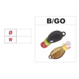 Мормышка КЛОПИК 2 (диам.: 4.2мм., длина: 7.0мм., вес: 0.35г., крючек #14, с ушком и бисером, цвет GO, в уп. 1 шт.)