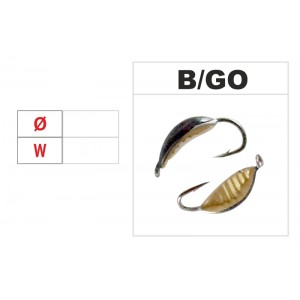 Мормышка КОБРА (диам.: 4.0мм., длина: 10.0мм., вес: 0.44г., с ушком, цвет B-GO, в уп. 1 шт.)