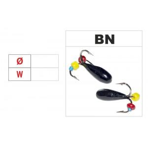 Мормышка ЧЕРТИК (диам.: 4.0мм., длина: 10.0мм., вес: n/a г., с отверстием и бисером, цвет BN, в уп. 1 шт.)