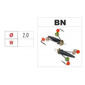 Мормышка ВЕДЬМА (диам.: 2.0мм., длина: 9.0мм., вес: n/a г., с ушком и бисером, цвет BN, в уп. 1 шт.)