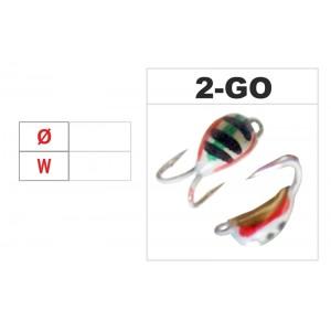 Мормышка КАЗА 2 (диам.: 3.0мм., длина: 7.0мм., вес: 0.64г., с ушком, цвет GO, в уп. 1 шт.)