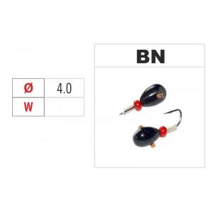 Мормышка КАПЛЯ (диам.: 4.0мм., длина: 6.0мм., вес: 1.05г., крючек #14, с отверстием и бисером, цвет BN, в уп. 1 шт.)