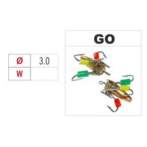 Мормышка ВЕДЬМА (диам.: 3.0мм., с ушком и бисером, цвет GO, в уп. 1 шт.)