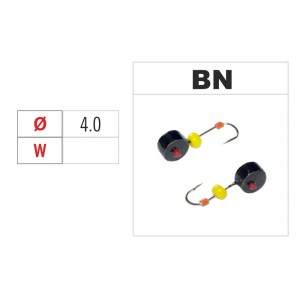 Мормышка ШАЙБА (диам.: 4.0мм., с отверстием и бисером, цвет BN, в уп. 1 шт.)
