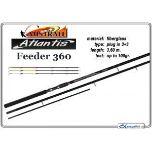 Спиннинг Mistrall ATLANTIS ULT.FEEDER 360 (Секций:4, длина:3.60м, тест:up to 100 гр.)
