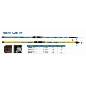 Спиннинг Linea Effe SHORE CATCHER Y 390 (Секций:4, длина:3.90м, тест:up to 200 гр.)