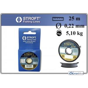 Леска STROFT GTM 022 (0.220мм. / 25м. тест: 5.10кг.)