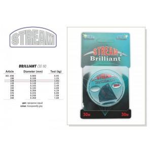 Леска STREAM Brilliant 012 (0.128мм. / 30м. тест: 1.95кг.)