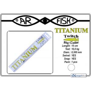 Поводок ARF Titanium Game (длина.: 15 см, тест: 10.0 кг, диам.: 0.300мм, уп.: 1 шт)