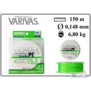 Леска плетеная Varivas High GRADE x4 PE g (#0.8 / 0.148мм. / 150м. тест:6.80 кг.. цвет: зеленый)