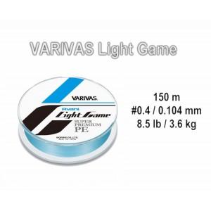 Леска плетеная Varivas Avani LIGHT Game PE (#0.4 / 0.104мм. / 150м. тест:3.60 кг.. цвет: синий)