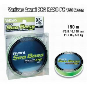Леска плетеная Varivas Avani SEA Bass PE (#0.8 / 0.148мм. / 150м. тест:6.00 кг.. цвет: зеленый)
