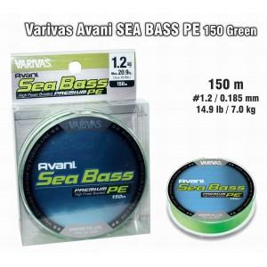 Леска плетеная Varivas Avani SEA Bass PE (#1.2 / 0.185мм. / 150м. тест:9.00 кг.. цвет: зеленый)