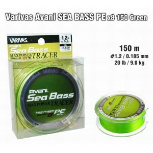Леска плетеная Varivas Avani SEA Bass x8 PE (#1.2 / 0.185мм. / 150м. тест:9.00 кг.. цвет: зеленый)