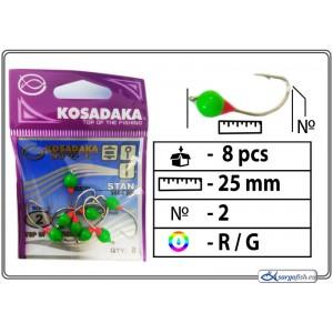 Мормышка K (Nr. 2, S, цвет: красный/зеленый)