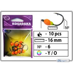Мормышка K (Nr. 6, BN, цвет: желтый/оранжевый)