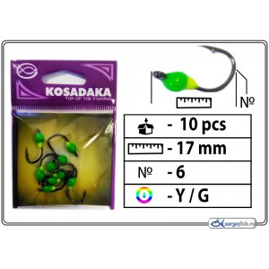 Мормышка K (Nr. 6, BN, цвет: желтый/зеленый)