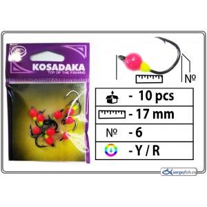 Мормышка K (Nr. 6, BN, цвет: желтый/красный)