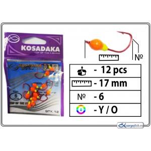 Мормышка K (Nr. 6, RED, цвет: желтый/оранжевый)