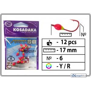 Мормышка K (Nr. 6, RED, цвет: желтый/красный)