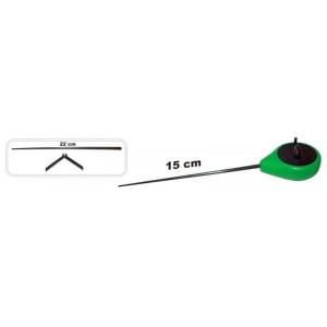 Зимняя удочка ZM (диам.\длинна: 40 \ 150 (220) мм, цв.: зелёный, уп. 1 шт.) пласт. хлыстик