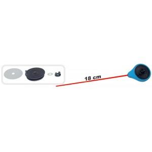 Зимняя удочка ZM SPF (диам.\длинна: 45 \ 180 мм, цв.: синий, уп. 1 шт.) стеклопл. хлыстик