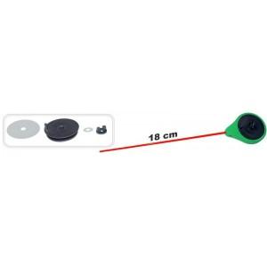 Зимняя удочка ZM SPF (диам.\длинна: 45 \ 180 мм, цв.: зелёный, уп. 1 шт.) стеклопл. хлыстик