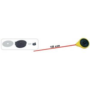 Зимняя удочка ZM SPF (диам.\длинна: 45 \ 180 мм, цв.: лимонный, уп. 1 шт.) стеклопл. хлыстик