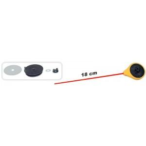 Зимняя удочка ZM SPF (диам.\длинна: 45 \ 180 мм, цв.: жёлтый, уп. 1 шт.) стеклопл. хлыстик