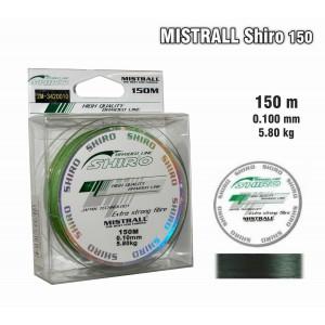 Леска плетеная Mistrall SHIRO g (0.1мм. / 150м. тест:5.80 кг.. цвет: зеленый)