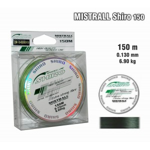 Леска плетеная Mistrall SHIRO g (0.13мм. / 150м. тест:6.90 кг.. цвет: зеленый)