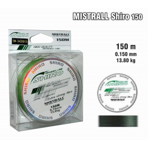 Леска плетеная Mistrall SHIRO g (0.15мм. / 150м. тест:13.80 кг.. цвет: зеленый)