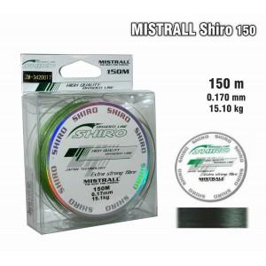 Леска плетеная Mistrall SHIRO g (0.17мм. / 150м. тест:15.10 кг.. цвет: зеленый)