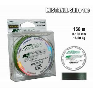 Леска плетеная Mistrall SHIRO g (0.19мм. / 150м. тест:16.50 кг.. цвет: зеленый)