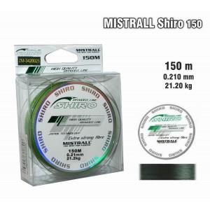 Леска плетеная Mistrall SHIRO g (0.21мм. / 150м. тест:21.20 кг.. цвет: зеленый)
