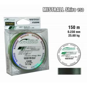 Леска плетеная Mistrall SHIRO g (0.23мм. / 150м. тест:25.60 кг.. цвет: зеленый)