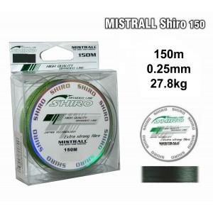 Леска плетеная Mistrall SHIRO g (0.25мм. / 150м. тест:27.80 кг.. цвет: зеленый)