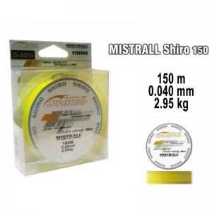 Леска плетеная Mistrall SHIRO y (0.040мм. / 150м. тест:2.95 кг.. цвет: желтый)