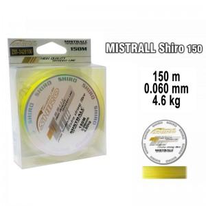 Леска плетеная Mistrall SHIRO y (0.060мм. / 150м. тест:4.60 кг.. цвет: желтый)