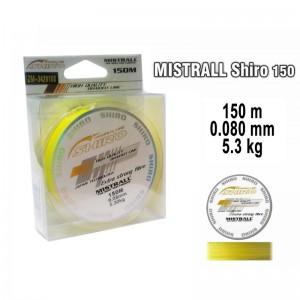 Леска плетеная Mistrall SHIRO y (0.080мм. / 150м. тест:5.30 кг.. цвет: желтый)