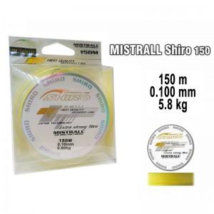 Леска плетеная Mistrall SHIRO y (0.100мм. / 150м. тест:5.80 кг.. цвет: желтый)
