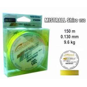Леска плетеная Mistrall SHIRO y (0.13мм. / 150м. тест:9.60 кг.. цвет: желтый)