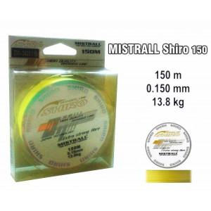 Леска плетеная Mistrall SHIRO y (0.15мм. / 150м. тест:13.08 кг.. цвет: желтый)