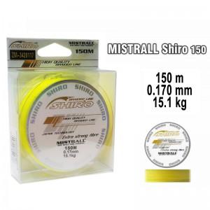 Леска плетеная Mistrall SHIRO y (0.170мм. / 150м. тест:15.10 кг.. цвет: желтый)