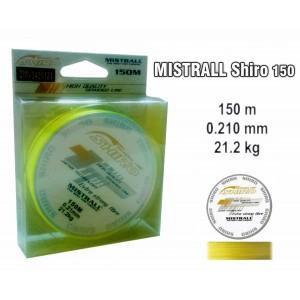 Леска плетеная Mistrall SHIRO y (0.21мм. / 150м. тест:21.20 кг.. цвет: желтый)
